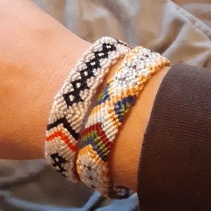 Hand crafted hand woven friendship bracelets
